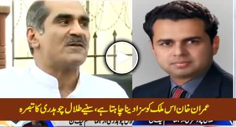 Talal Chaudhry Bashing Imran Khan After Khawaja Saad Rafique's Disqualification