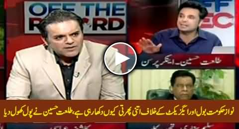 Talat Hussain Tells Inside Story Why Nawaz Govt Is So Active Against Bol & Axact