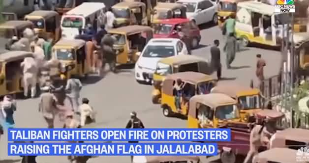 Taliban Opens Fire On Protesters Raising Afghan National Flag in Jalalabad