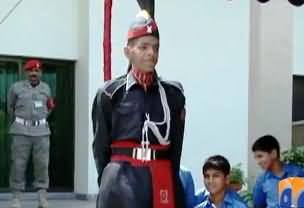 Tallest Ranger in Pakistan Army, 7 Feet 4 Inch Height, 18 Inch Long Feet - Heavey Food - Full Report By Geo News
