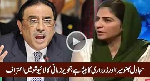 Tanveer Zamani Admits in Live Show That Sajawal Bhutto Is Her Son From Zardari