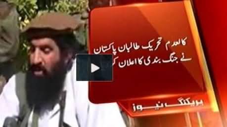 Tehreek e Taliban Announced Ceasefire For One Month