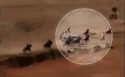 Terrible accident during horse race in Kurdistan