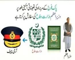 The Procedure For the Appointment of Pakistan's Army Chief