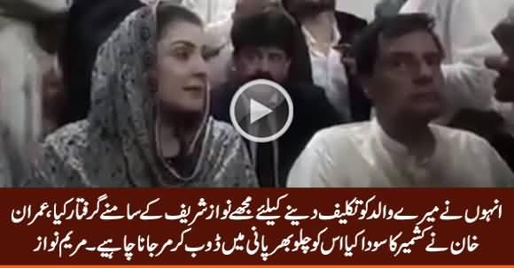 They Arrested Me In Front My Father Nawaz Sharif to Hurt Him - Maryam Nawaz