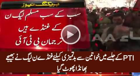 They Were PMLN Goons Who Misbehaved With Ladies in PTI Jalsa