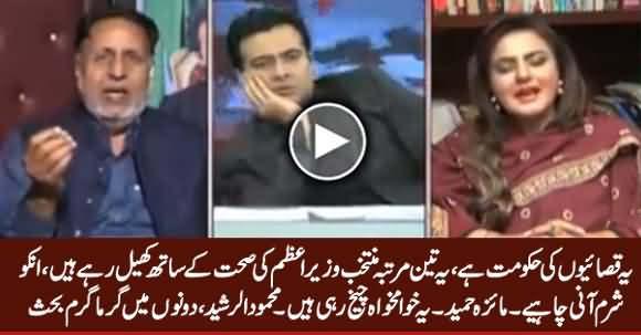 This Is Govt of Butchers - Heated Debate Between Maiza Hameed & Mehmood ur Rasheed