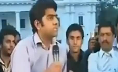 This Young Guy Blasts on All the Politicians & Champions of Democracy