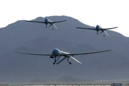 Three Drones Hovering over the Different Areas of KPK