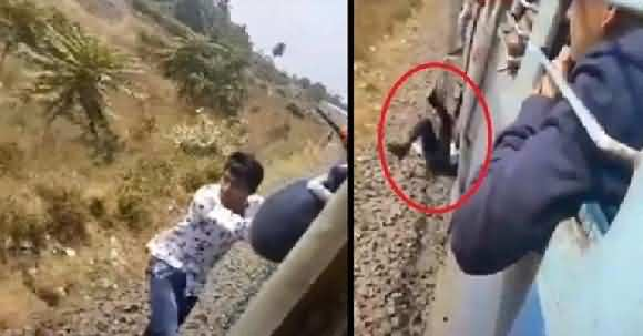 Tik Tok Craze On Youngsters - Boy Fell Down From Train While Making Tik Tok In India