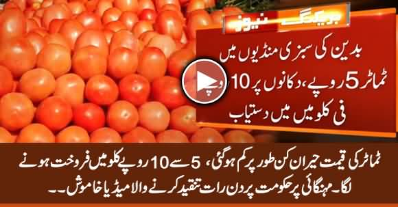 Tomatoes' Skyrocketing Prices Start Decelerating, Being Sold At 5 to 10 Rs Per KG