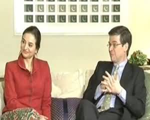 Tonight With Moeed Pirzada(EAdam Thomson and Fariba Shirazi Exclusive Interview) - 30 December 2013