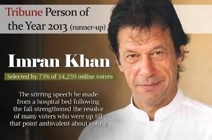 Tribune Person of the Year 2013: Imran Khan Got 73% Votes with Second Position
