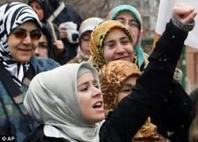 Turkey Prime Minister Lift ban on Headscarf in Govt. Institutions