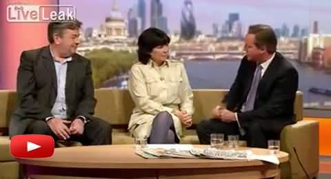 Tv Anchor Says Shut Up to British Prime Minister David Cameron in Live Program