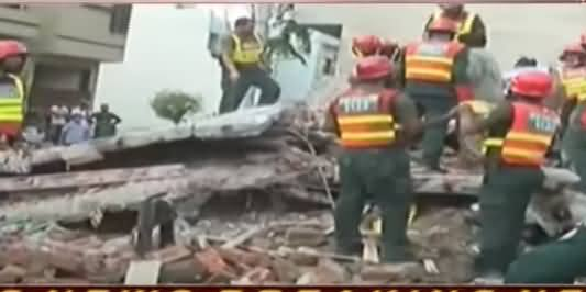 Two-Storey Under Construction Building Collapsed in Lahore, 5 Injured, 1 Expired
