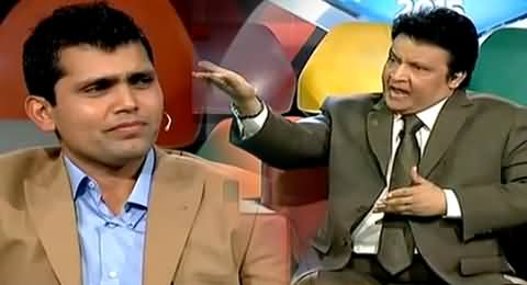 Umar Sharif Using Cheap Words While Taunting Kamran Akmal in Live Show
