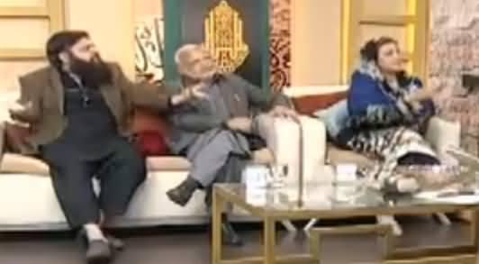 Uzma Bukhari Fights With Ibtasam Elahi Zaheer While Defending Punjab Govt