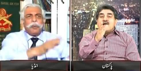 Very Hot Debate Between Iftikhar Ahmad & Former Indian Army General Bakshi