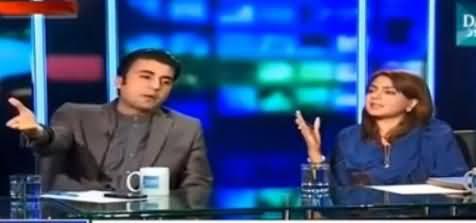 Very Hot Debate Between Murad Saeed ANd Maiza Hameed (PMLN)