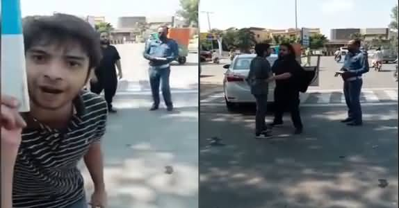 Video: A Guy From Defence Misbehaves With Traffic Warden