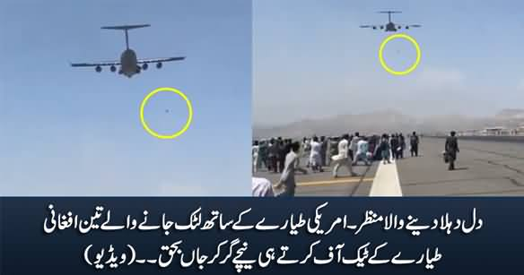 Video Shows Afghans Who Clung to Plane Falling Off From Sky As Flight Takes off From Kabul