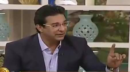 Waseem Akram Views About the Attitude of Shahid Afridi With Journalist