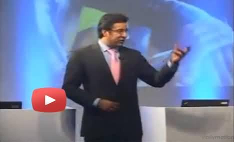 Wasim Akram Praising Imran Khan While Giving Lecture on Leadership