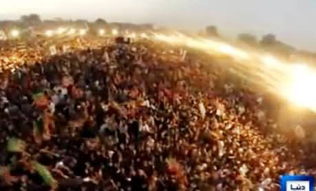 Watch Aerial View of Gujranwala Jalsa After Imran Khan's Arrival, Really Amazing Crowd