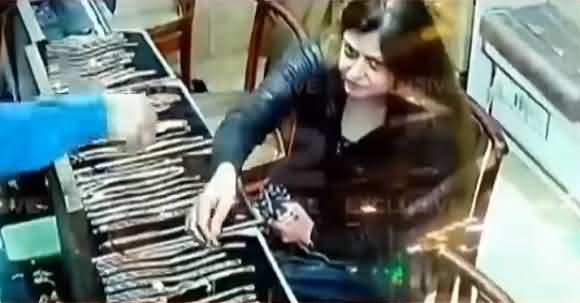 Watch CCTV Footage How Cleverly Woman Steals In A Jewelry Shop