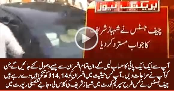 Watch Detailed Report How Chief Justice Took Class of Shahbaz Sharif in Supreme Court
