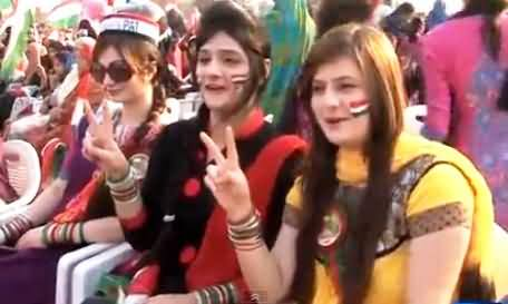 Watch Enthusiasm and Spirit of Women in PAT Rally Lahore, Chanting Go Nawaz Go