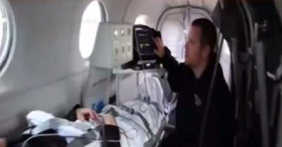 Watch Exclusive Video Of Nawaz Sharif's 'Air Ambulance' Inside View