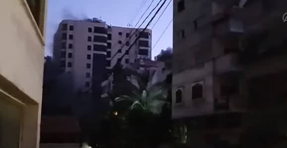 Watch Footage, How A Tower Block Demolished By Israeli Airstrikes in Palestine?