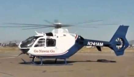 Watch Go Nawaz Go on A Private Helicopter Which is Owned By A Pakistani Business Man In London