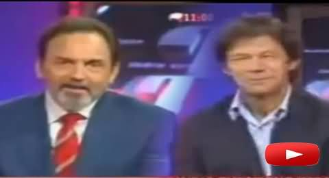 Watch How Imran Khan Correcting the English of Indian Anchor in Live Show