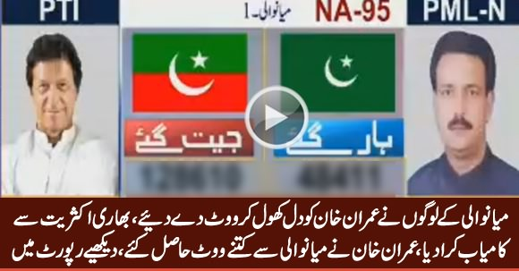 Watch How Many Votes Imran Khan Got From Mianwali, Won With Huge Margin