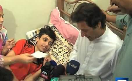 Watch Imran Khan's Meeting with Heart Patient Danial, Who Passed Away Yesterday