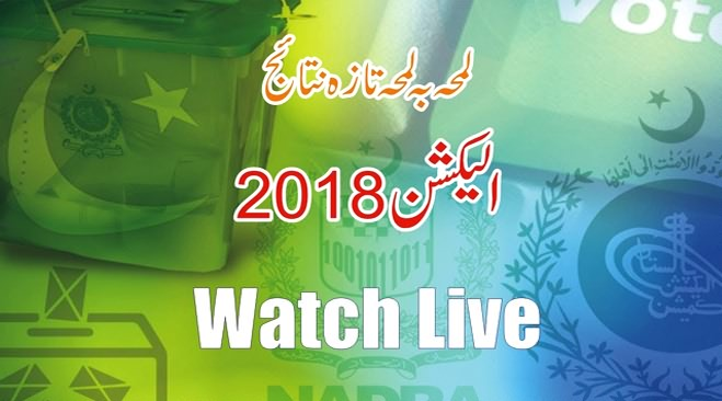 Watch Live Video Streaming Latest Election Results Updates of 2018 Election Pakistan