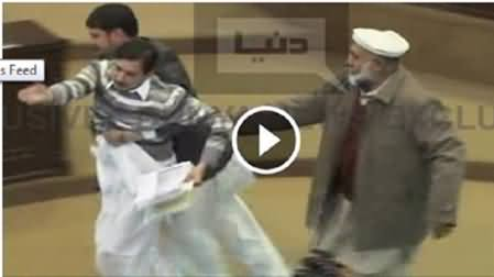 Watch MPA Babar Saleem Protesting in KPK Assembly on Unavailability of Funds