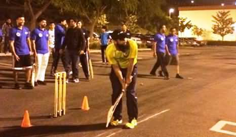 Watch Muhammad Yousaf Playing Cricket in USA Tape Ball Night Tournament