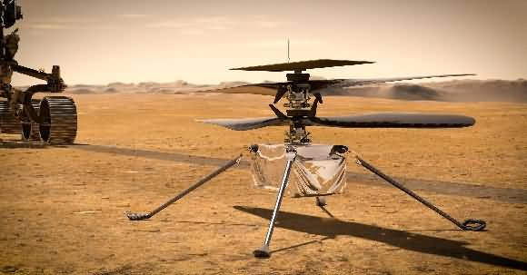 Watch NASA's Helicopter Ingenuity Takes First Historical Flight on Mars