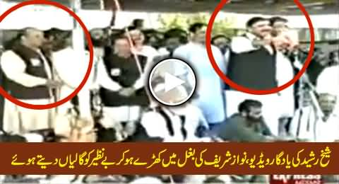 Watch Rare Video of Sheikh Rasheed Abusing Benazir Bhutto From the Stage of Nawaz Sharif
