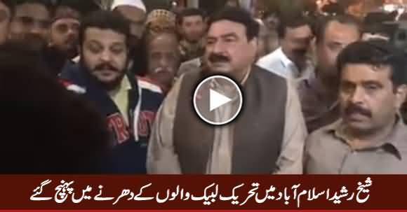 Watch Sheikh Rasheed in Tehreek e Labbaik's Sit-in in Islamabad