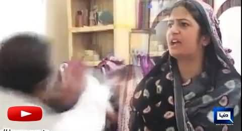Watch the End of Wrong Call Marriage: Husband Beating His Wife in Front of Media