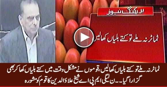 Watch What A PMLN MPA Advising Nation on Unavailability of Tomatoes