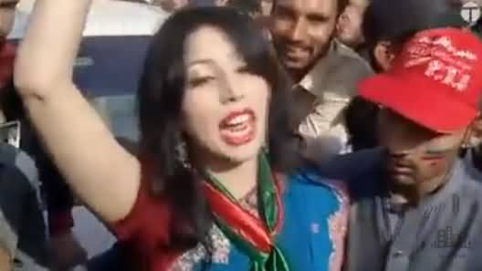 Watch What Annie Khan Saying About PTI Workers, (Unseen Mobile Video)
