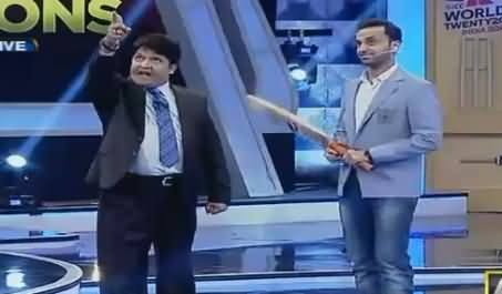 Watch What Umar Sharif Doing For The Victory of Pakistani Team, Hilarious