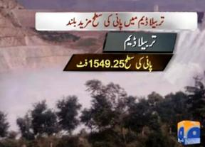 Water Level on Rise at Tarbela Dam, Only 9 Inch Away From the Capacity