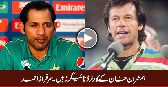 We Are Cornered Tigers of Imran Khan - Sarfraz Ahmad (Captain)
